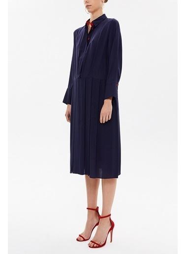 Societa Plili Bol Kesim Midi Elbise 92801 Lacivert